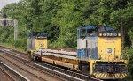 LI 164, 161 on a work train